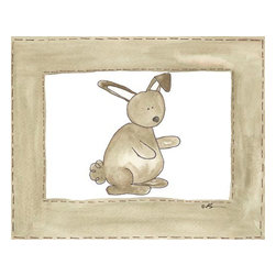 Oh How Cute Kids by Serena Bowman - Vintage Rabbit, Ready To Hang Canvas Kid's Wall Decor, 16 X 20 - Every kid is unique and special in their own way so why shouldn't their wall decor be so as well! With our extensive selection of canvas wall art for kids, from princesses to spaceships and cowboys to travel girls, we'll help you find that perfect piece for your special one.  Or fill the entire room with our imaginative art, every canvas is part of a coordinating series, an easy way to provide a complete and unified look for any room.