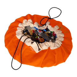 Swoop Bags - Swoop Bag, Orange Crush - Now you see 'em, now you don't. This clever bag goes from play mat to toy storage bag in one — you guessed it — swoop. Because everyone loves Legos, just not when they're embedded in your foot.
