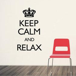ColorfulHall Co., LTD - Wall Vinyl Sayings Keep Calm And Relax - Keep Calm and Relax Wall Vinyl Sayings
