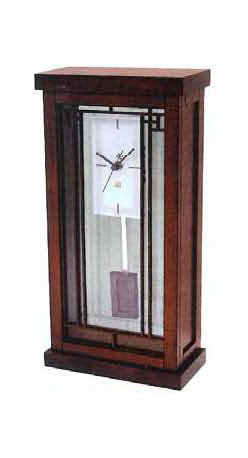 BULOVA - Bulova Frank Lloyd Wright Gale Bookcase Mantel Clock Model B1852 - This new addition to the Frank Lloyd Wright collection features: