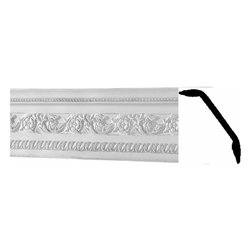 Renovators Supply - Cornice White Urethane Garden - Cornice - Ornate | 19284 - Cornices: Made of virtually indestructible high-density urethane our cornice is cast from steel molds guaranteeing the highest quality on the market. High-precision steel molds provide a higher quality pattern consistency, design clarity and overall strength and durability. Lightweight they are easily installed with no special skills. Unlike plaster or wood urethane is resistant to cracking, warping or peeling.  Factory-primed our cornice is ready for finishing.  Measures 6 1/4 inch H x 78 7/8 inch L.