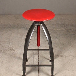 red top bar stool - view this item on our website for more information + purchasing availability: http://redinfred.com/shop/category/furnish/bar-counter-stools/red-top-bar-stool/