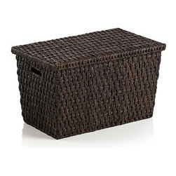 Guapo Large Trunk - Rustic, handwoven lidded trunk provides all kinds of storage solutions, adding a warm, organic presence to the bedroom, den or office.