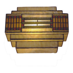 Dale Tiffany - Dale Tiffany TH100082 Cube Mission Wall Sconce - Shade: Hand Rolled Art Glass