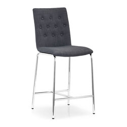 ZUO MODERN - Uppsala Counter Chair Graphite Fabric (set of 2) - Uppsala Counter Chair Graphite Fabric