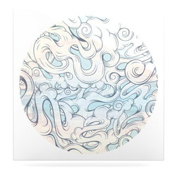 """Kess InHouse - Mat Miller """"Entangled Souls"""" Metal Luxe Panel (8"""" x 8"""") - Our luxe KESS InHouse art panels are the perfect addition to your super fab living room, dining room, bedroom or bathroom. Heck, we have customers that have them in their sunrooms. These items are the art equivalent to flat screens. They offer a bright splash of color in a sleek and elegant way. They are available in square and rectangle sizes. Comes with a shadow mount for an even sleeker finish. By infusing the dyes of the artwork directly onto specially coated metal panels, the artwork is extremely durable and will showcase the exceptional detail. Use them together to make large art installations or showcase them individually. Our KESS InHouse Art Panels will jump off your walls. We can't wait to see what our interior design savvy clients will come up with next."""