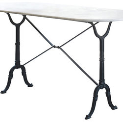 Brasserie Table, Iron - A little more French inspiration for the iron lover in me. This table is another multipurpose piece that could act as a work surface when it isn't being used as a dining table.
