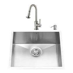VIGO Industries - VIGO Undermount Stainless Steel Kitchen Sink, Faucet, Grid, Strainer and Dispens - VIGO keeps your needs in mind when it comes to kitchen essentials.