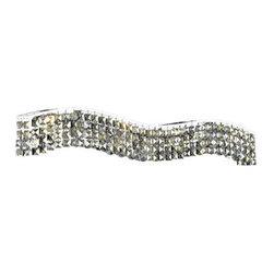 Elegant Lighting - Elegant Lighting 6801G25C Falls 11 Light Foyer Pendants in Chrome - 2041 Contour Collection Wall Scone L36in H6in E5in Lt:8 Chrome Finish (Royal Cut Golden Teak Crystals)