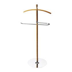 "Butler Specialty - Butler Turco Modern Valet Stand - Butler Turco Modern Valet Stand Bamboo post with metal bottom plate 20""W x 14""D x 41""H"