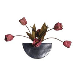 Silk Tulip in Gunmetal Gray Ceramic Container - About VickermanThis product is proudly made by Vickerman, a leader in high quality holiday decor. Founded in 1940, the Vickerman Company has established itself as an innovative company dedicated to exceeding the expectations of their customers. With a wide variety of remarkably realistic looking foliage, greenery and beautiful trees, Vickerman is a name you can trust for helping you create beloved holiday memories year after year.