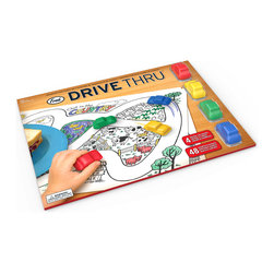 Fred and Friends - Drive Thru Crayons + Placemat - Are we there yet? And more