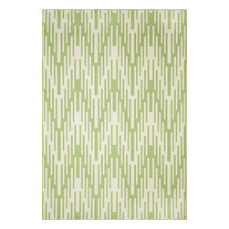 "Momeni Rug - Momeni Rug Baja 7'10"" x 10'10"" BAJ-6 Green BAJA0BAJ-6GRN7AAA - Create the ultimate indoor/outdoor oasis of your dreams with the Baja Collection. Lively patterns, bright and bold color choices and long lasting durability make these rugs ideal for the sun room or patio. Exciting colors and gorgeous graphic patterns make the Baja Collection not to be missed."