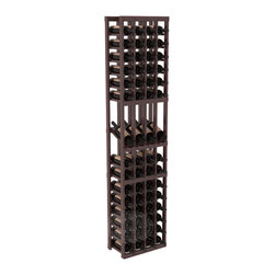 4 Column Display Row Wine Cellar Kit in Redwood with Walnut Stain + Satin Finish - Make your best vintage the focal point of your wine cellar. Four of your best bottles are presented at 30° angles on a high-reveal display. Our wine cellar kits are constructed to industry-leading standards. You'll be satisfied with the quality. We guarantee it.