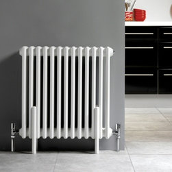 Hudson Reed - Column Radiator White Floor Mounting Kit Legs For Traditional Style - Hudson Reed Column Radiator White Floor Mounting KitThe Hudson Reed Floor Mounting Kit for white traditional-style column radiators complements perfectly a Victorian or Edwardian bathroom, kitchen, en-suite or living room. Column Radiator White Floor Mounting Kit Details  Each column mounting pole is 12 (305mm) high and 1 (25mm) wide, with a white powder coated finish (RAL 9016) Each pole has 3 holes for connecting screws (included) From the base upwards the holes on each leg are placed: 1st hole - 4 (100mm) from base 2nd hole - 6 (150mm) from base 3rd hole - 11 (280mm) from base Kit is compatible with all standard 2 and 3 column radiators from all manufacturers (upto maximum width 5 (125mm).  Pack contains 4 legs (2 pairs)Supplied complete with 6 x 4.75 (120mm) screws per set