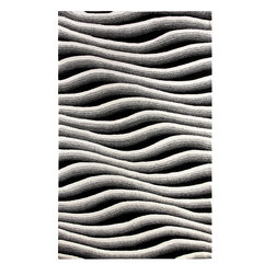 Dynamic Rugs - Dynamic Rugs Aria 1120-190 (Ivory Black) 5' x 8' Rug - Aria is a brand new handmade wool rug collection styled for Dynamic Rugs by Posh* Fashionation. Various textures of wool are combined to create a styling that is sure to add interest to any room. Aria is exquisitely hand tufted and then hand carved for added depth by master craftsmen in India. These rugs are styled largely of 100% un-dyed wool color shades, with some vivid dyed hues such as fashionable aquas accentuate the designs.