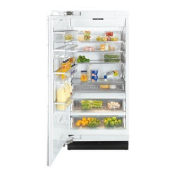 "Miele 36"" Fully Integrated All Refrigerator - This is a fully integrated all refrigerator by Miele. The fully integrated design allows the refrigerator to truely blend in with the kitchen, and it accepts either custom panels or a stainless steel front."