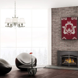 Napoleon GDI30 Series 30'' x 22'' Direct Vent Gas Insert Fireplace - The GDI30 Gas Fireplace Insert easily transforms your existing masonry or prefabricated fireplace into an efficient heating source, eliminating drafts and ultimately saving you money. The incredible, realistic dancing flames and elegant designer options turn your room into a tranquil getaway. The state-of-the-art pan burner system guarantees a wide range of heat output, exactly what you need for maximum comfort.