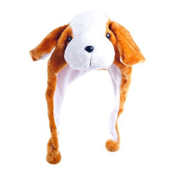 Trademark Global - Critter Cap Plush Flop Ear Dog Hat - Interlocking strap. Made from 100% polyester. No assembly required. 12.5 in. W x 11 in. D x 15.5 in. H (1 lbs.)Bring warmth to your Childs head and to your heart with an adorable plush animal hat by Critter Cap Critter Caps are fun and functional. Kids won't leave the house without their hat and parents won't worry about their kids being too cold. Take pleasure in the joy and comfort of a Critter Cap Plush Animal Hat.