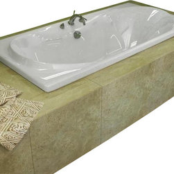 Spa World Corp - Atlantis Tubs 4272W Whisper 42x72x23 Inch Rectangular Soaking Bathtub - The interior of the Whisper is sensual and curvaceous, while maintaining a rectangular outline. The center drain allows you to lie back comfortably on either end of the tub, while the smooth curves of the Whisper series create a seat like effect for ultimate relaxation and comfort.