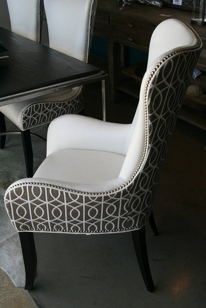 dining chairs and benches by Decorum Home + Design
