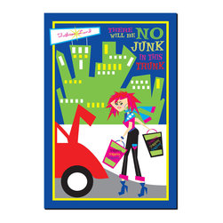 Trademark Art - No Junk in the Trunk Giclee Canvas Art by Gra - Artist: Grace Riley. Title: No Junk in the Trunk. Gallery Wrapped Giclee Canvas Art. Canvas wraps around the sides and is secured to the back of the wooden frame. Frameless presentation of the finished painting. 19 x 14 x 2 (2.8 lbs.)