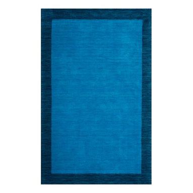 """Safavieh - Newtown Hand Loomed Rug, Light Blue / Dark Blue 2'3"""" X 14' - Construction Method: Hand Loomed. Country of Origin: India. Care Instructions: Vacuum Regularly To Prevent Dust And Crumbs From Settling Into The Roots Of The Fibers. Avoid Direct And Continuous Exposure To Sunlight. Use Rug Protectors Under The Legs Of Heavy Furniture To Avoid Flattening Piles. Do Not Pull Loose Ends; Clip Them With Scissors To Remove. Turn Carpet Occasionally To Equalize Wear. Remove Spills Immediately. The casual allure of contemporary Tibetan carpets is recalled in Safavieh's rich and textural Himalaya Collection. Loomed by hand in India of 100 percent wool in a range of heathered solids, transitional stripes and subtle plaids, each rug in the collection."""