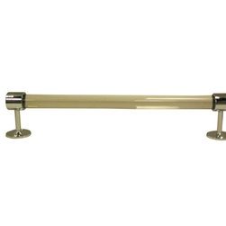 """Towel Rod With End Brackets - Towel Rod With End Brackets - 1"""" Dia :  Easy to fit with fixing screws this Towel Rod With End Brackets Constructed from beautiful Lucite material which gives a royal touch to your bathroom with the elegance of brass beauty"""
