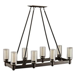 Circolo Collection Olde Bronze Rectangle Chandelier | LampsPlus.com