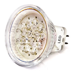 MR11 LED Bulb,  12 LEDs - MR11-x12 series spot light replacement bulb for traditional MR11 halogen bi-pin base lamps.