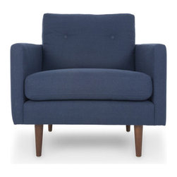 Bryght - Blue Mid-Century Modern Armchair | Noah Mid-Century Modern Furniture - A fresh take on style with comfort. Give your home a trendy update with the mid century modern inspired Noah armchair