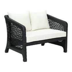 Modway - Nook Loveseat in Espresso White - Curl up with your favorite past time and beverage of choice to luxuriate outdoors. Nook's comfortable cushioning and lounge friendly dimensions will leave you happily situated. Position Nook in your garden or yard, so that your memorable chats and soulful discussions will never be lacking.