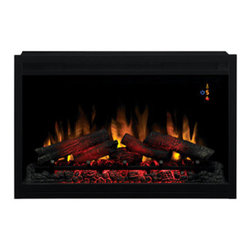 """ClassicFlame - ClassicFlame 36-Inch 240V Traditional Builders Box - 36EB220-GRT - The ClassicFlame 36"""" 240V Traditional Builders Box is the perfect addition to any room you would like to have a fireplace. Just install the builders box on an inside or outside wall to have even more benefits than you would from a wood or gas fireplace. You can enjoy the look and feel of a real fire with the realistic looking logs and glowing embers while enjoying the ability to heat a larger space (up to 800 sq. ft.)."""