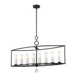 Crystorama Lighting - Crystorama Lighting 9268-EB Cameron Transitional / Eclectic Island Light - Crystorama Lighting 9268-EB Cameron Transitional / Eclectic Island Light in English Bronze With Clear Smooth Balls Crystal