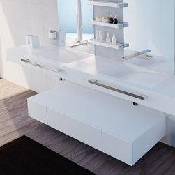 ZEN Gallery Bath Accessories - ONE Collection bath accessories, Wall mount soap dispenser, waste bin, towel bar