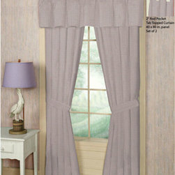 Patch Quilts - Baby Pink and White Gingham Window Curtain 40 x 80 Inch - Placket 10 Inches - Home Spun,  yarn dyed fabric curtains  - Window treatments complements the Patch Magic Quilt line and bedroom decor   - Machine washable  - Line or Flat dry only  - Valance not included Patch Quilts - CWW234S