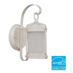 Green Matters Outdoor Lighting Piper Wall Mount Outdoor White Light Fixtur