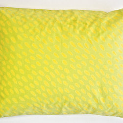 "See Design - King Sham, Set of two, Dabs Yellow/Green - These shams are great for mixing and matching with your See Design duvets or quilts! 100% cotton. King size measures 20""x36"". The shams feature a concealed zip closure for a finished look and easy removal for cleaning. They come in sets of two."