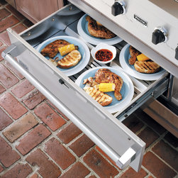 """Outdoor Kitchens, Grills & Smokers - Viking Warming Drawers, available in 30"""" and 36"""" widths, have temperature settings from 90 - 250 degrees F. The Low Setting is ideal for plate warming or bread proofing and the High Setting keeps soups and sauces piping hot."""