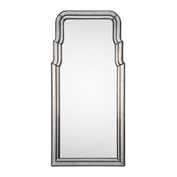 Venezia Mirror - Glamorous beveled edging makes this art deco infused mirror a standout piece for any living room or boudoir. Hand cut exquisite edges and the tall stature of this mirror makes for a lovely conversation piece. Place a vase with long stems of Tuberose in front of this mirror and reflect the stunning beauty of both the mirror and natures beauty.