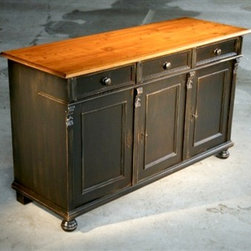 Black Barn Wood Buffet - Made by http://www.ecustomfinishes.com