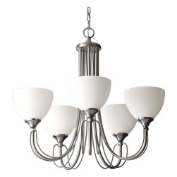 Feiss - Feiss F2728/5BS Morgan Brushed Steel 5 Light Chandelier - Feiss F2728/5BS Morgan Brushed Steel 5 Light Chandelier