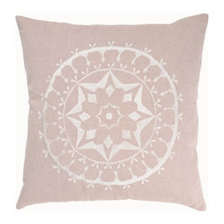 Rizzy Home - Rizzy Home Beige Star and Circle Decorative Throw Pillow Multicolor - T3455A - Shop for Pillows from Hayneedle.com! Cozy up your cottage with the Rizzy Home Beige Star and Circle Decorative Throw Pillow. This decorative pillow features a large scale white medallion against a natural cotton slub cover. It includes a hidden zipper and plush polyester insert. The cover is conveniently machine washable and may be laid flat to dry.Pillow Dimensions:Rectangular pillow: 21L x 11W in.Square pillow: 18L x 18W in.About Rizzy HomeRizwan Ansari and his brother Shamsu come from a family of rug artisans in India. Their design color and production skills have been passed from generation to generation. Known for meticulously crafted handmade wool rugs and quality textiles the Ansari family has built a flourishing home-fashion business from state-of-the-art facilities in India. In 2007 they established a rug-and-textiles distribution center in Calhoun Georgia. With more than 100 000 square feet of warehouse space the U.S. facility allows the company to further build on its reputation for excellence artistry and innovation. Their products include a wide selection of handmade and machine-made rugs as well as designer bed linens duvet sets quilts decorative pillows table linens and more. The family business prides itself on outstanding customer service a variety of price points and an array of designs and weaving techniques.