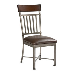 Standard Furniture - Standard Furniture Hudson Side Chair in Rustic Dark Cherry (Set of 2) - Hudson Dining, with its mainstream industrial styling and burnished brown cherry stain, blends perfectly with a casual contemporary life.