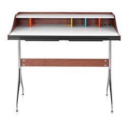 Herman Miller - Herman Miller Nelson Swag Leg Desk - Retro yet contemporary, the Nelson swag leg desk has the look, scale, and function that are just right for today.