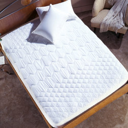 Simmons Beautyrest - Simmons Pima Cotton Trizone Mattress Pad - Improve your sleep environment with the Simmons Beautyrest™ Pima Cotton Trizone Mattress Pad. The unique pad features a 250 thread count Pima Cotton filled with antimicrobial polyester fibers.