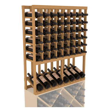 Wine Racks America - High Reveal Wine Rack Display in Pine, Oak Stain - A highly decorative wine rack with all the elegance and functionality a wine enthusiast could want. Emphasize your favorite wine bottles with display rows and capture onlookers with dramatic lighting assemblies. The full beauty of this rack is maximized paired with any member from our wine rack family.