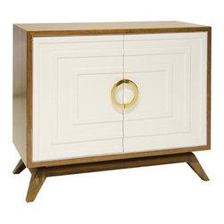 Worlds Away - Worlds Away - Bernard 2 Door Cabinet - Bernard, Cream - Worlds Away - Bernard 2 Door Cabinet In Gray Lacquer - BERNARD RWH