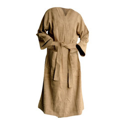 SHOO-FOO - Bamboo Organic Cotton Bathrobe, Latte Brown, Small - This soft and highly absorbent'bamboo bathrobe'made of a sturdy, tear-resistant blend of 70%'viscose from organic bamboo and 30% organic cotton at 600g/sq meter (gsm) is sure to last for years of showering and pampering, or just being comfortable around the house!