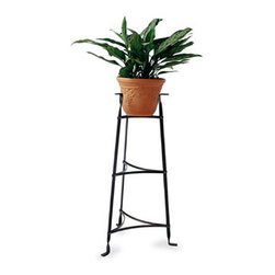 """Enclume - 3 Tier Plant Stand Hammered Steel - Dimensions: 17.5""""W x 15""""D x 33.5""""H"""
